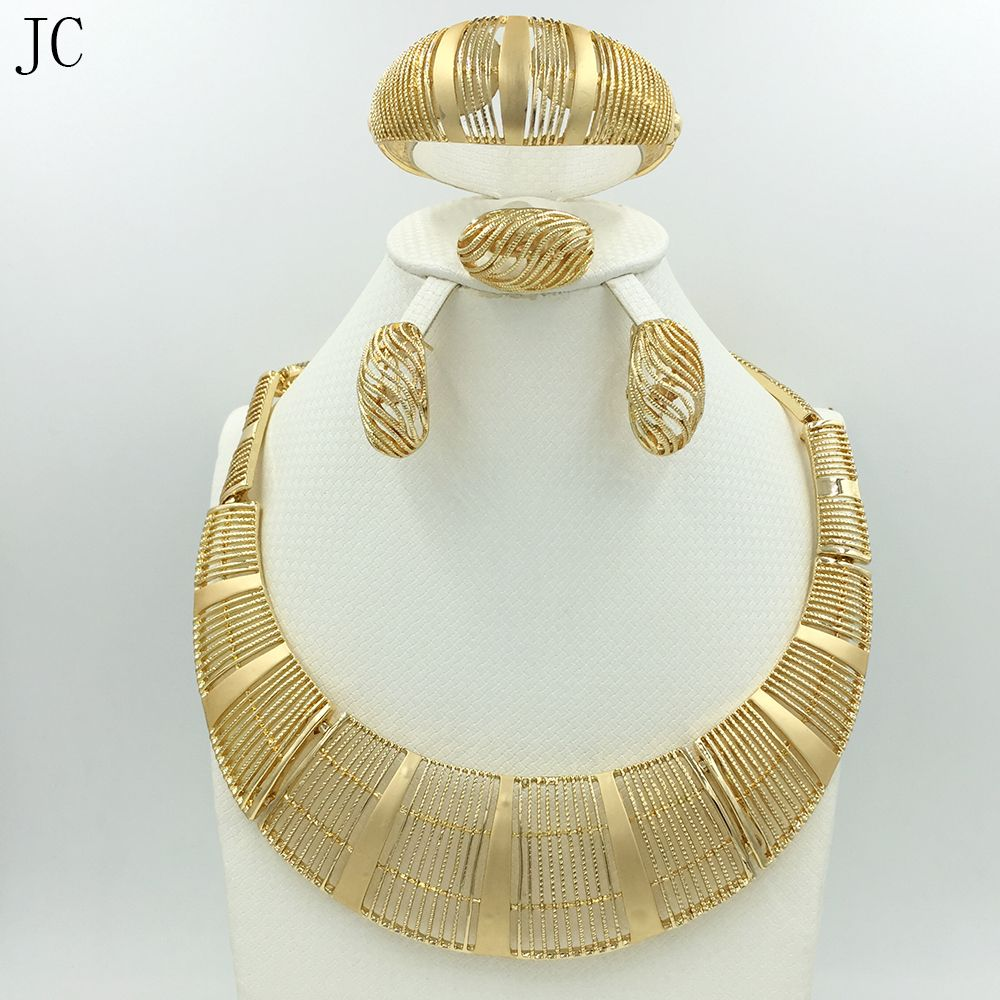 Click to Buy Big Nigerian Wedding African Beads Jewelry Sets