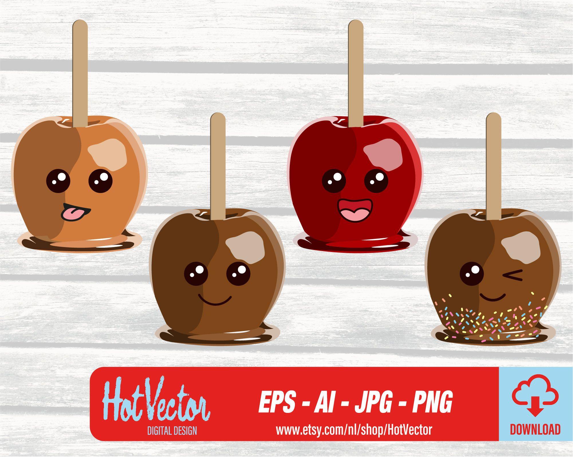 Karamel Candy Apple Emoji clipartAI, EPS, PNG, jpgDIRECT