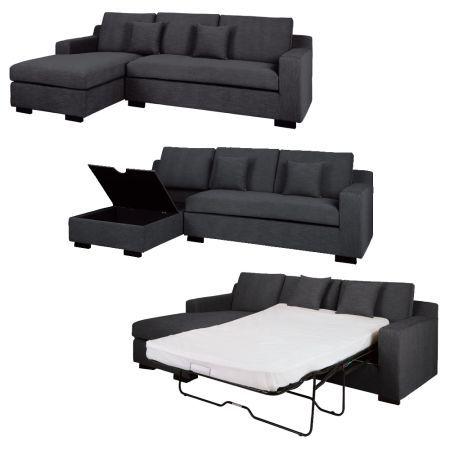 Dwell Milan Corner Sofa Bed With Storage Left Hand Grey Corner Sofa Bed Corner Sofa Bed With Storage Sofa Bed