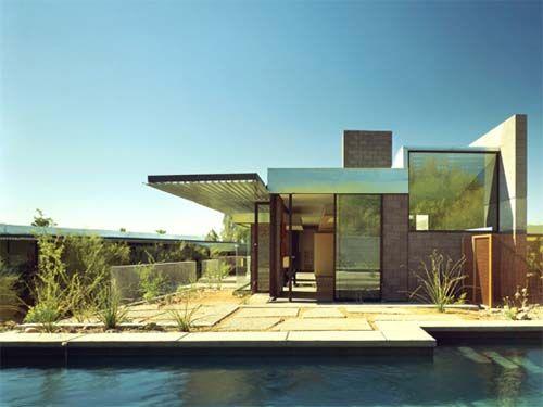 Desert House Concrete Block House Design By TWBTA Architects