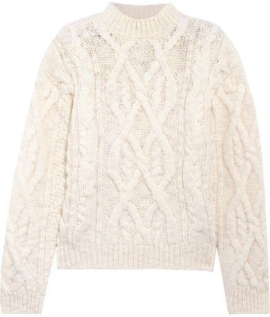 a9c90abcf1daa2 Acne Studios - Edyta Cable-knit Wool Sweater - Cream
