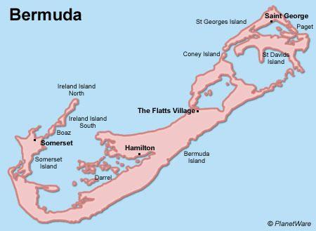 Bermuda Map To decoupage with tra la la Pinterest Bermuda