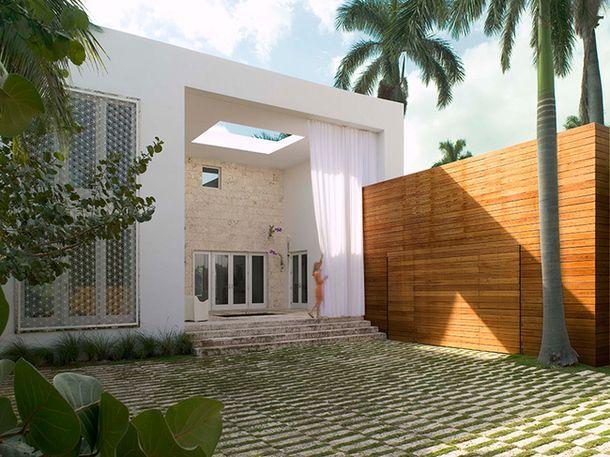 Тропическая вилла в Майами-Бич
