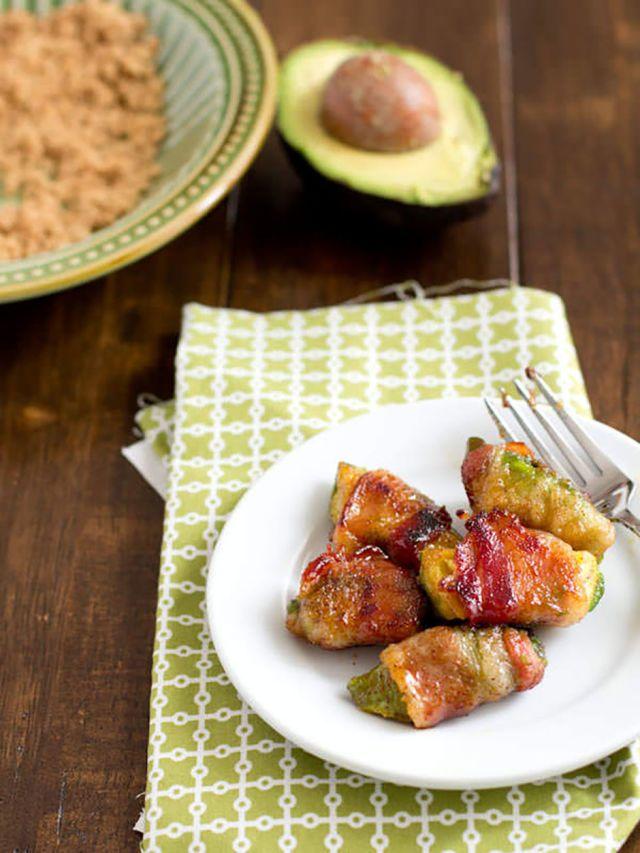 10 Bacon Wrapped Snacks For Die Hard Bacon Lovers Avocado Recipes Bacon Wrapped Avocado Appetizer Recipes