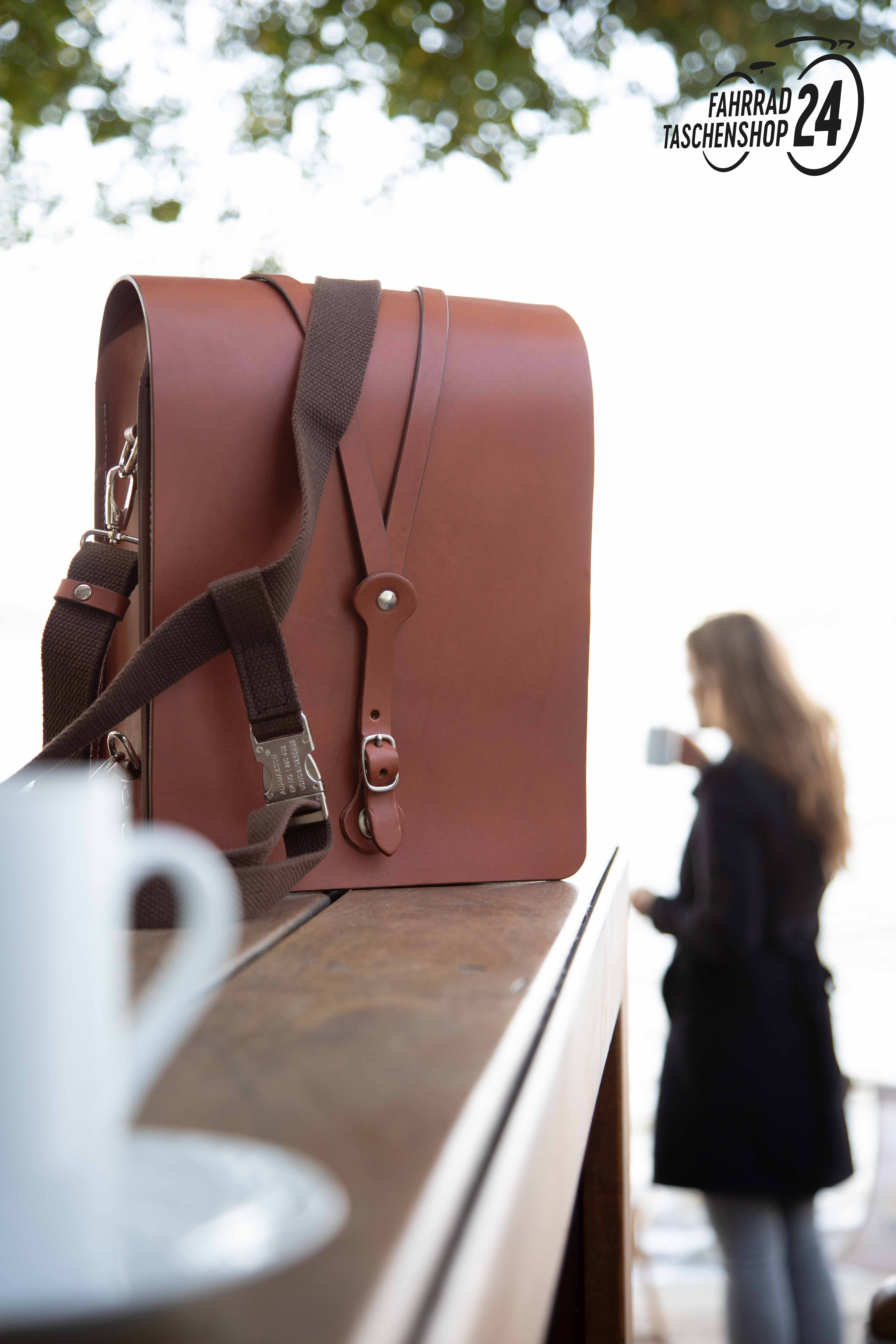 Großer Messenger Bag aus Sattelleder | Fahrradtasche