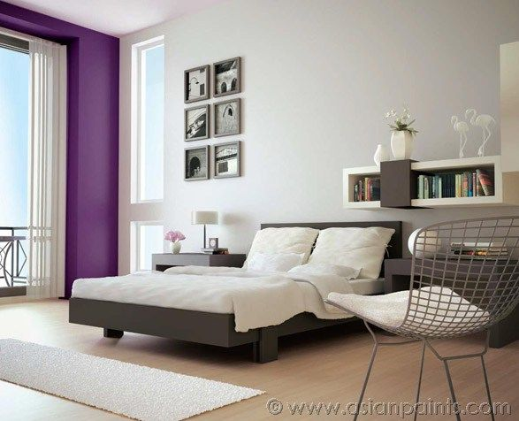 Highlight your window wall with accent colour purple while keeping rest of the as neutral also want focal point in room rh pinterest