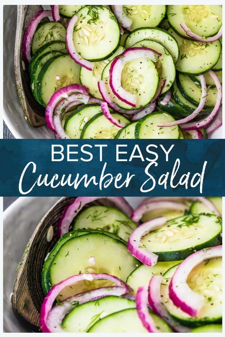Easy Cucumber Salad Recipe (Cucumber Onion Salad) - (VIDEO!)