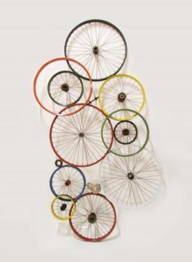 Fenster Rietberg bild wand dekoration fahrradfelgen bunt 200 100cm neu in nordrhein