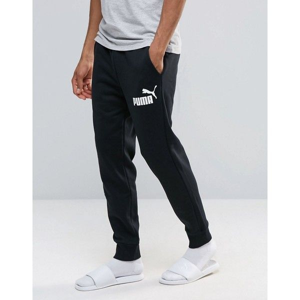 7637037d67eb Puma No.1 Logo Joggers In Black 83826401 ( 24) ❤ liked on Polyvore  featuring men s fashion