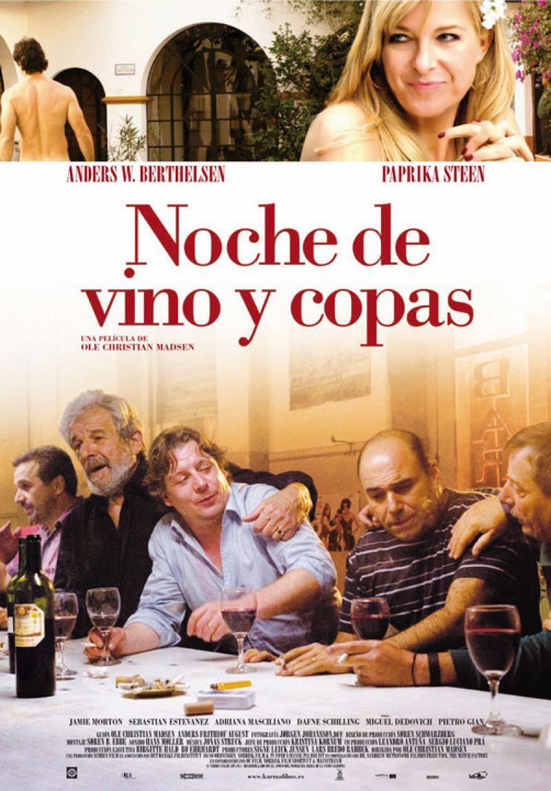 """Noche de Vino y Copas"" de Ole Christian Madsen #vinoycine #winefilms #winelover #amantedelvino #wine #vino #vin #vi"