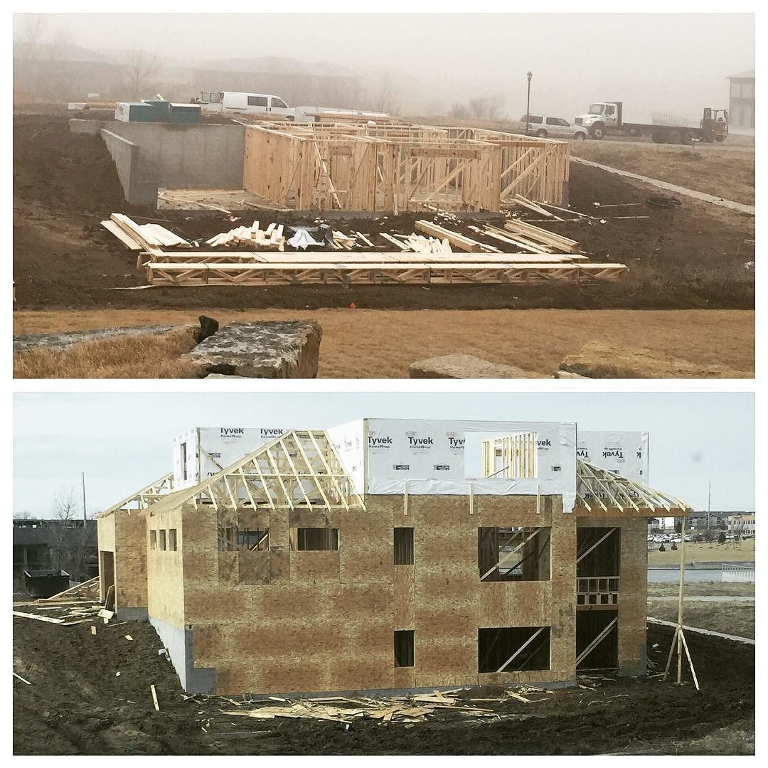 https://www.instagram.com/p/BP8IqfggTIL/#transformationtuesday What a difference a week makes! Here's a comparison from last Tuesday to today on this two story home we have in progress. #trademarkbuilders #newconstruction #customhome #homebuilder #framing via www.trademarkbuilderslincoln.com/