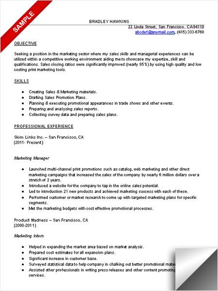 Marketing Resume Skills Marketing Resume Sample Resume Examples  Pinterest  Marketing