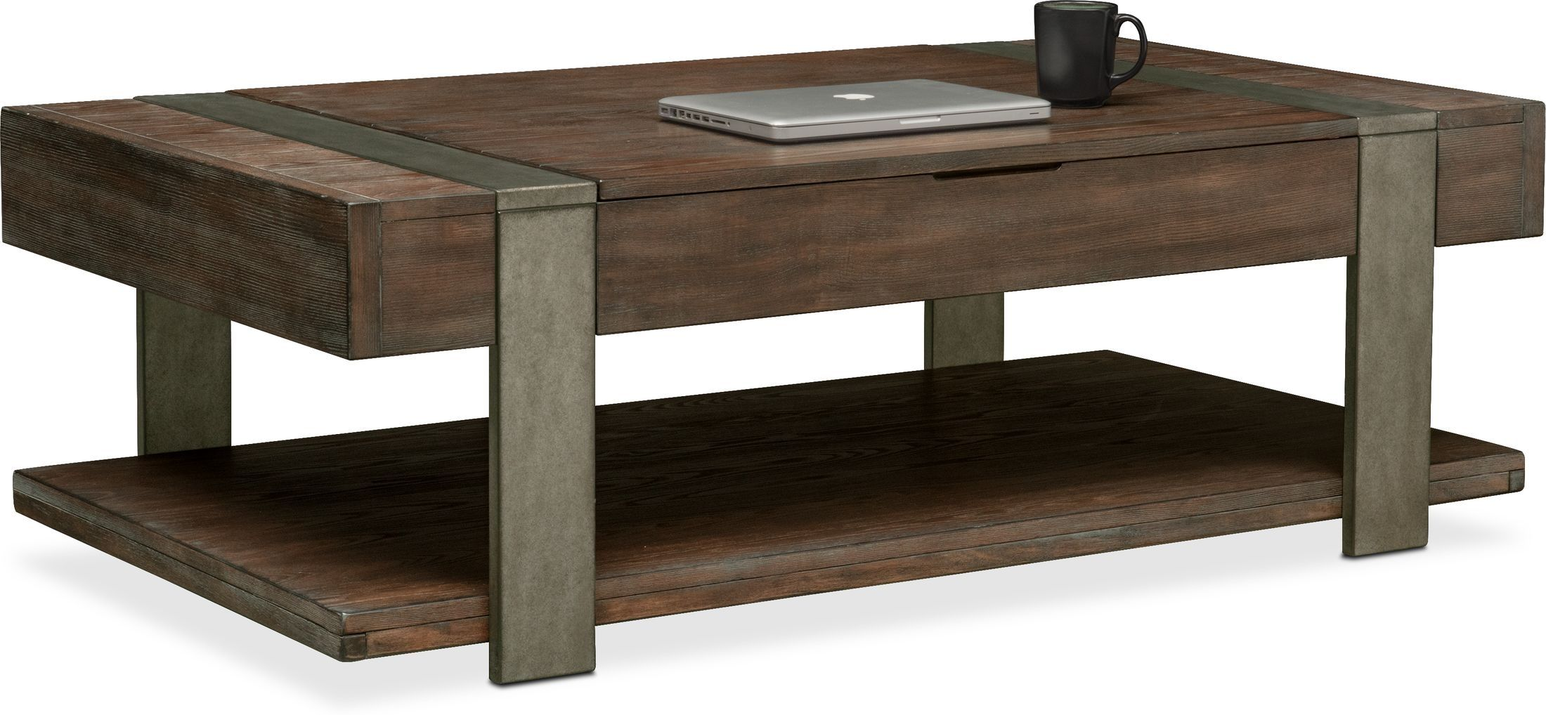Union City Lift Top Coffee Table Wood Bedroom Furniture Vintage Industrial Furniture Natural Wood Furniture [ 1018 x 2200 Pixel ]