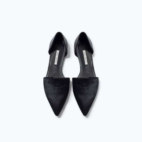 4543204fbca Image 4 of LEATHER D ORSAY SHOES from Zara