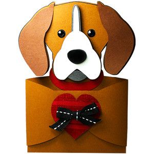 Beagle Hug Gift Card Holder Puppy Valentines Cards Christmas