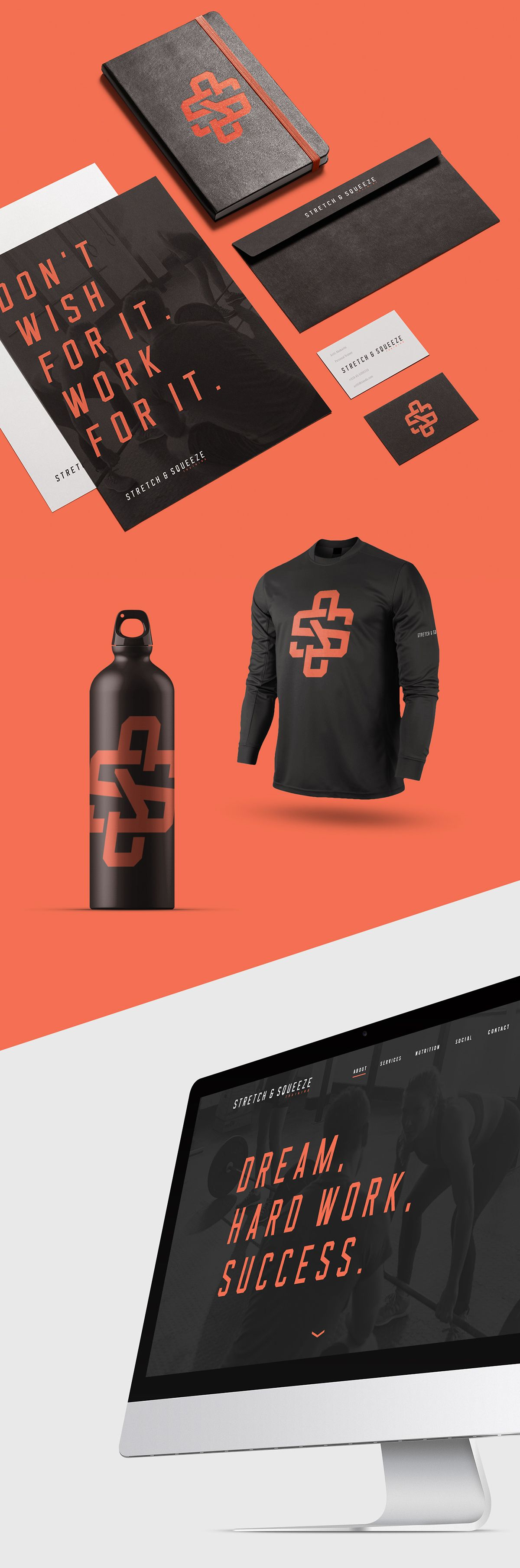 Stretch & Squeeze Training on Behance Fitness logo