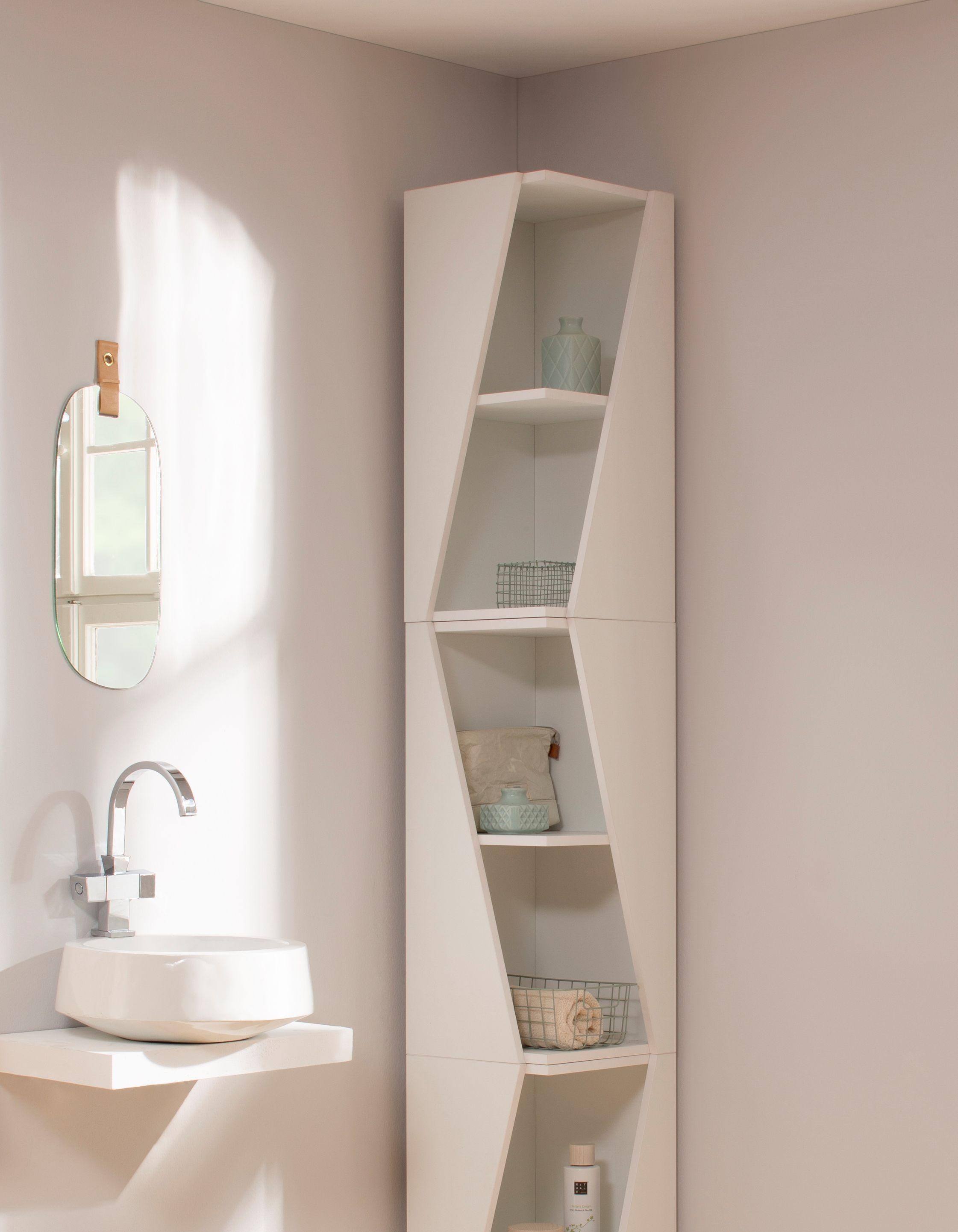 Eckregal fürs Bad und anderswo - klein, schlicht, schick und passt
