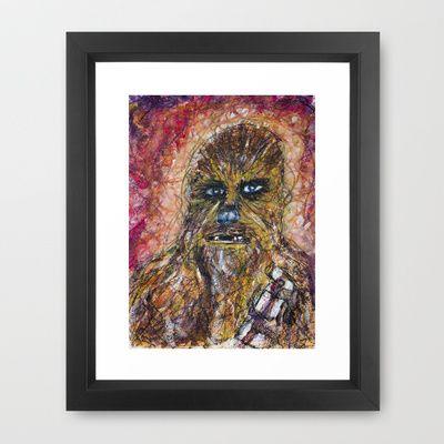 Chewy Scribble Framed Art Print by Mike Brennan - $35.00