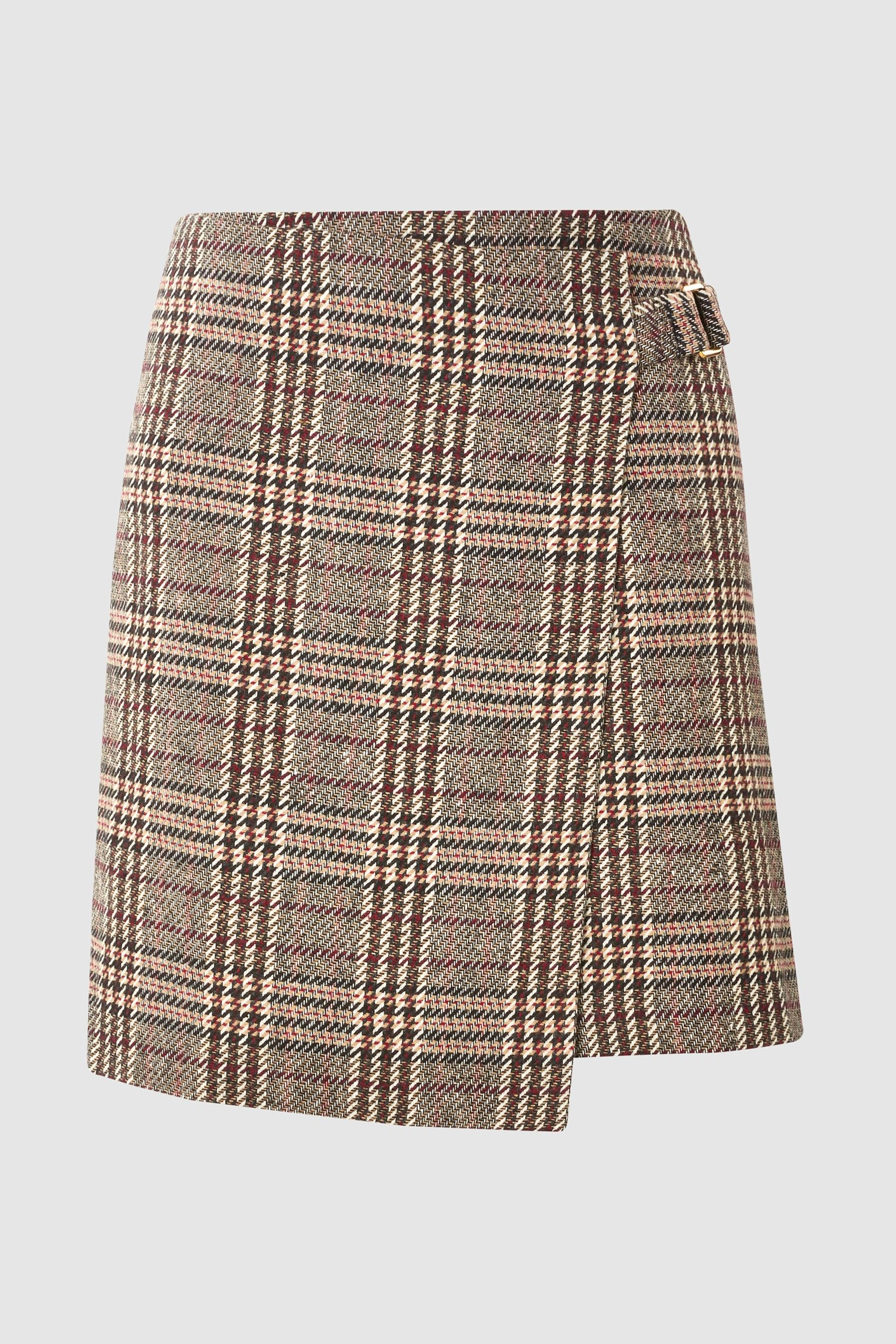 88c43f17137a4 Womens Next Beige Check Mini Skirt - Brown | Products in 2019 | Mini ...