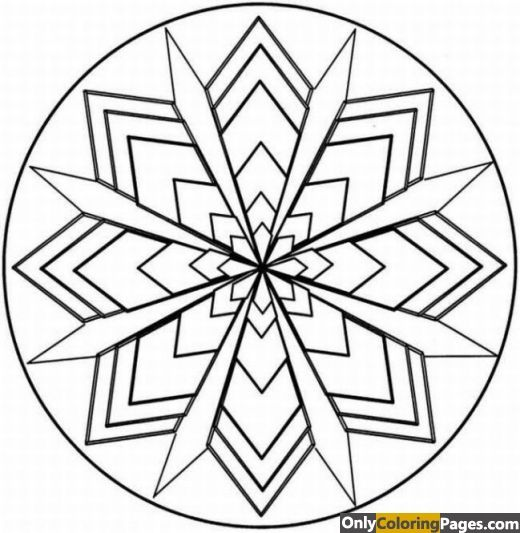 Simple Kaleidoscope Coloring Pages Geometric Coloring Pages Pattern Coloring Pages Coloring Pages