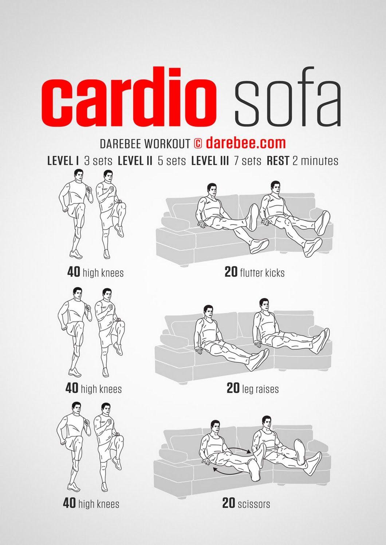 Cardio Sofa Workout Couch Workout Cardio Workout Cardio