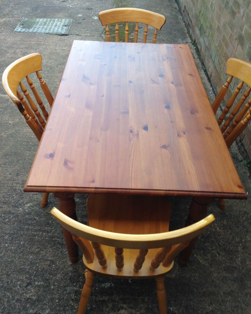 Solid Pine Table Chairs | Dining Table And 4 Chairs & Solid Pine Table Chairs | Dining Table And 4 Chairs | Table u0026 Chairs ...