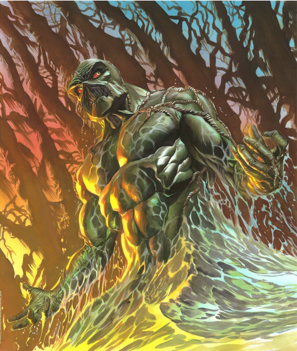 Alex Ross SIGNED Swamp Thing DC Comics LE Lithograph Art Print #21/50 | eBay