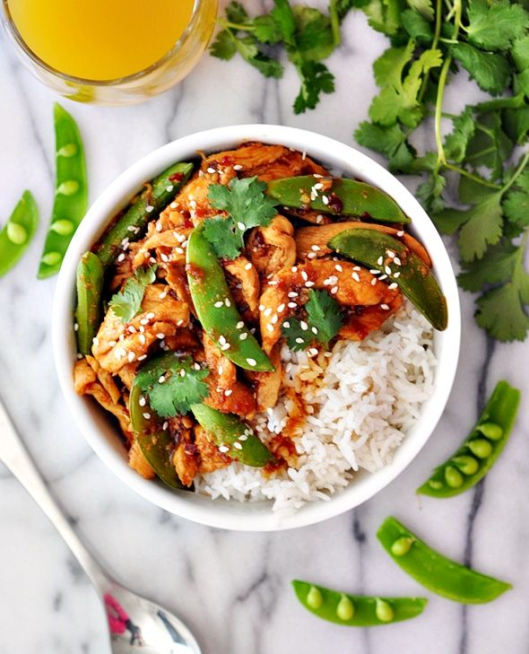 Sambal Chicken Stir-Fry with Sugar Snap Peas - an easy one pan dish ...