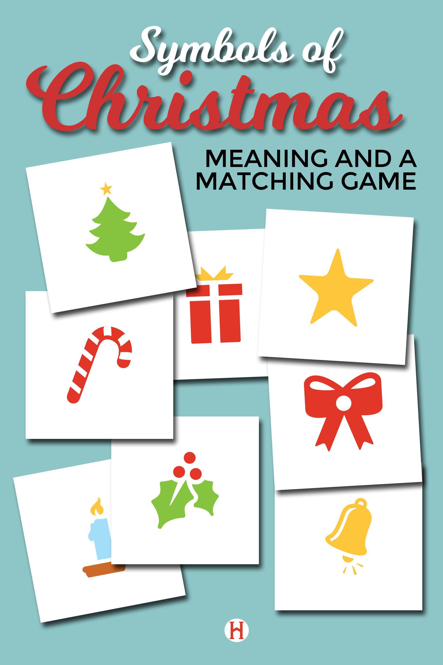 Symbols Of Christmas Matching Game
