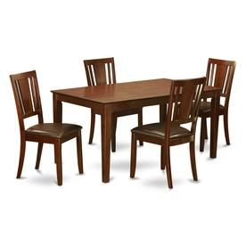 Pleasant East West Furniture Capri Mahogany 5 Piece Dining Set With Gmtry Best Dining Table And Chair Ideas Images Gmtryco