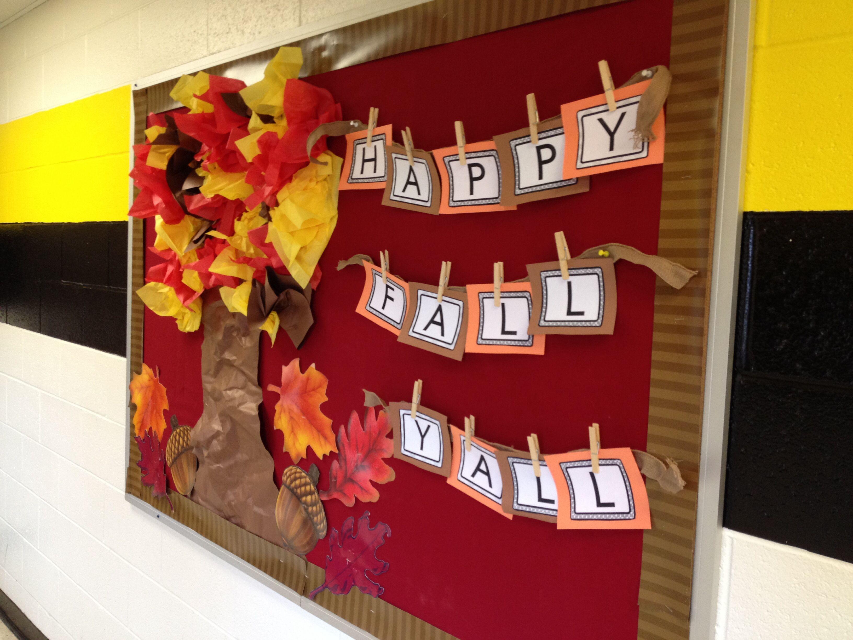 My fall bulletin board preschool bulletin boards and for Fall bulletin board ideas