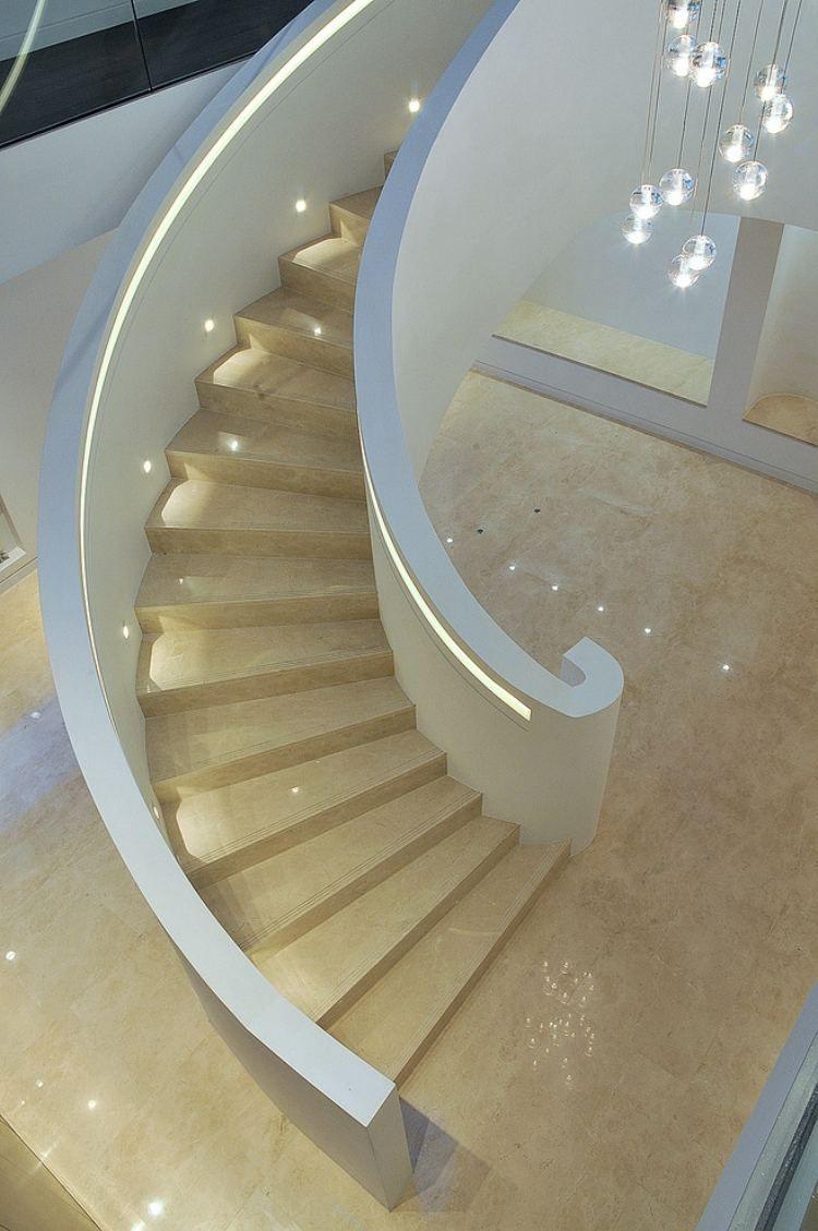 Wandeinbauleuchten Für Treppen : runde wandeinbauleuchten und beleuchteter handlauf ~ Watch28wear.com Haus und Dekorationen