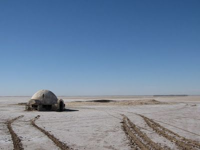 The salt flats were used for the exterior of the Lars homestead on Tatooine. The interior was filmed in Hôtel Sidi Driss, which is located in Matmata, 300 kilometers away. Check Out More http://goo.gl/fb/32f0Al Chott el Djerid #Lake - #Tunisia  #africa #nature #places