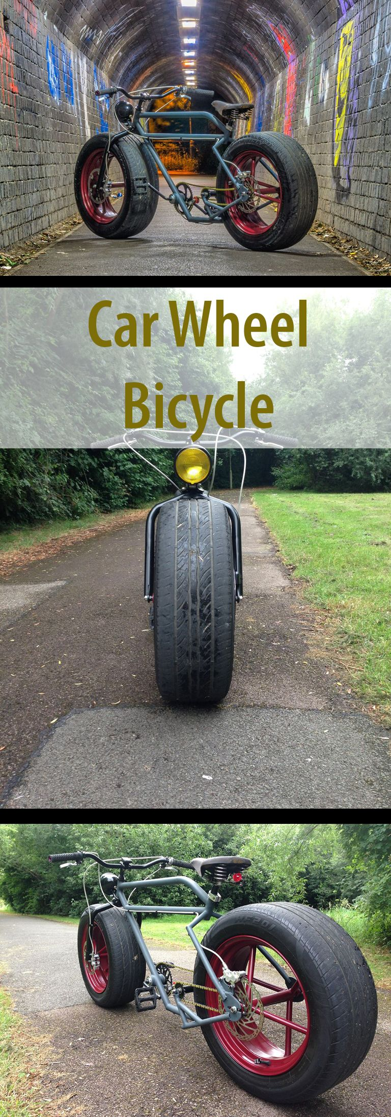Car Wheel Bicycle - the Learn to Weld Project | Bikes | Pinterest ...