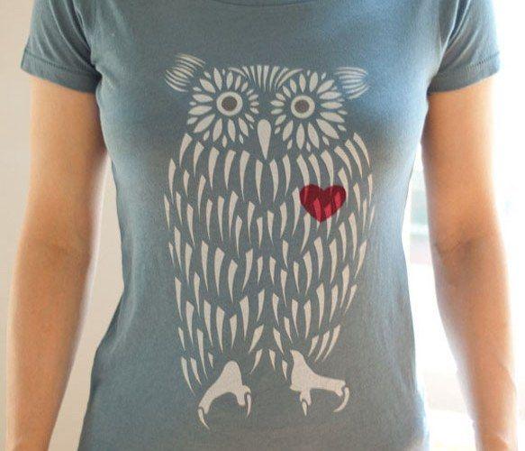 Owl Heart Organic T-Shirt <3