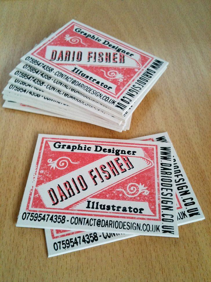 Dario Fisher Retro Typeface Business Cards, inspired by European ...