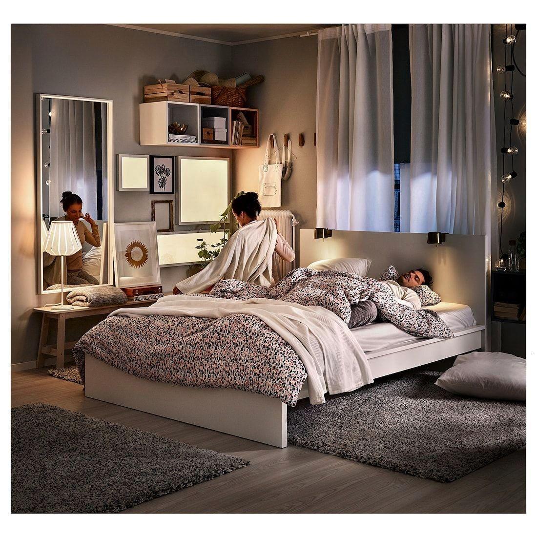 luröy #frame #white #malm #high #ikea #bedMALM Bed frame