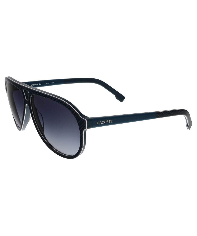 15fcebaa2594 LACOSTE L741 S 424 Blue Aviator Sunglasses Sunglasses .  lacoste  sunglasses