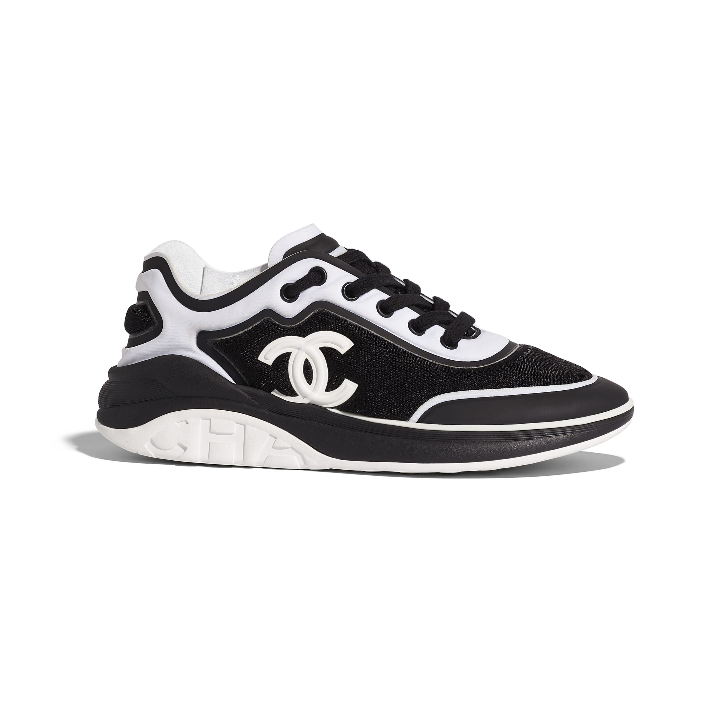 Chanel shoes, Sneakers, Black and white