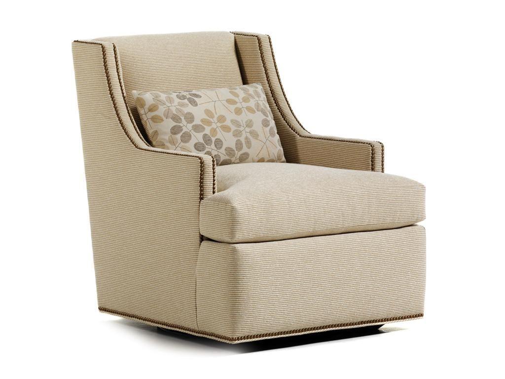 Jessica Charles Living Room Crosby Swivel Chair 625S Greenbaum