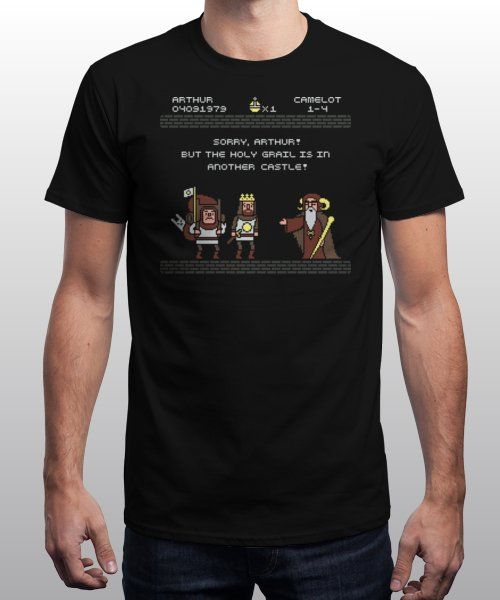 """The Grail is in Another Castle"" is today's £9/€11/$12 tee for 24 hours only… 