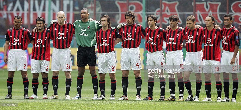 Ac Milan S Players Cafu Gennaro Gattuso Jaap Stam Dida Andrea Ac Milan Milan Gennaro Gattuso