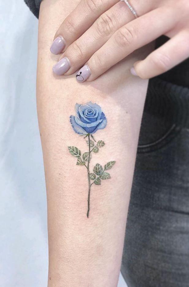 60 Super Cute Tattoo Ideas For Everyone Thetatt Blue Rose Tattoos Rose Tattoo Pattern Tattoo