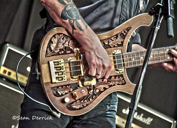 Lemmy's bass as Motorhead performed at Mayhem Fest in St Louis. Follow the pic for many more photos of the show and a review.    Music, photography, concert photography, guitar, bass guitar, design, tattoos, live music, rock music, hard rock, heavy metal