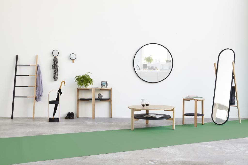 Spiegel Rond Zwart : Spiegel hub rond zwart umbra interieur
