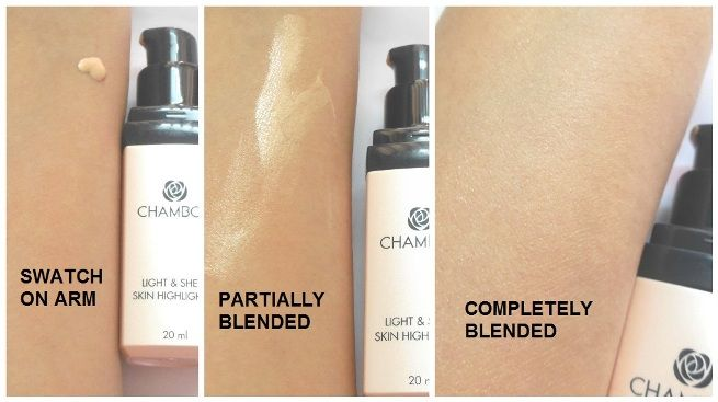 #Chambor #Light and #Sheer #Skin #Highlighter #review #price and other details on the blog #swatch #demo