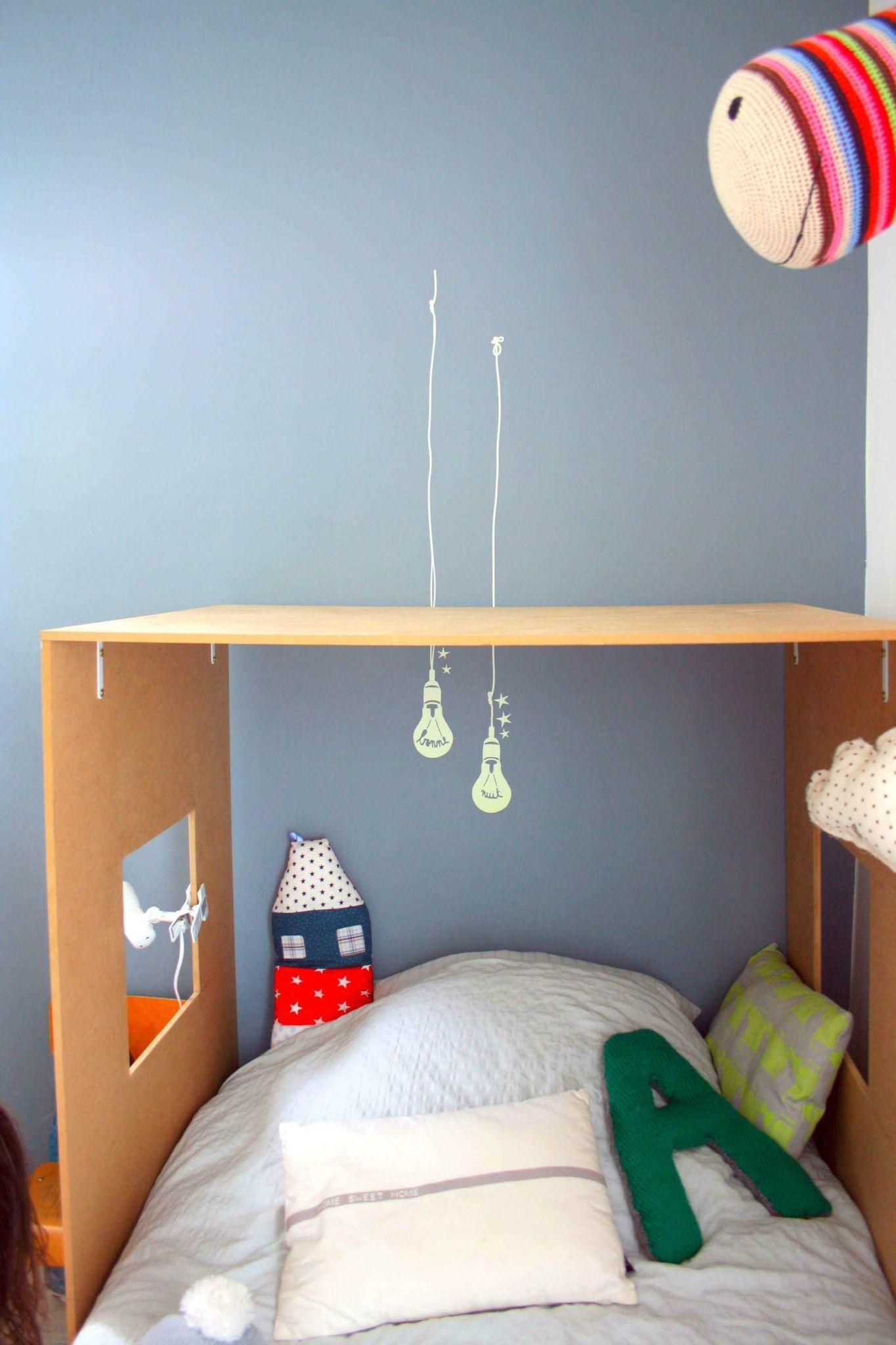 diy lit cabane deco enfant lit cabane deco chambre. Black Bedroom Furniture Sets. Home Design Ideas