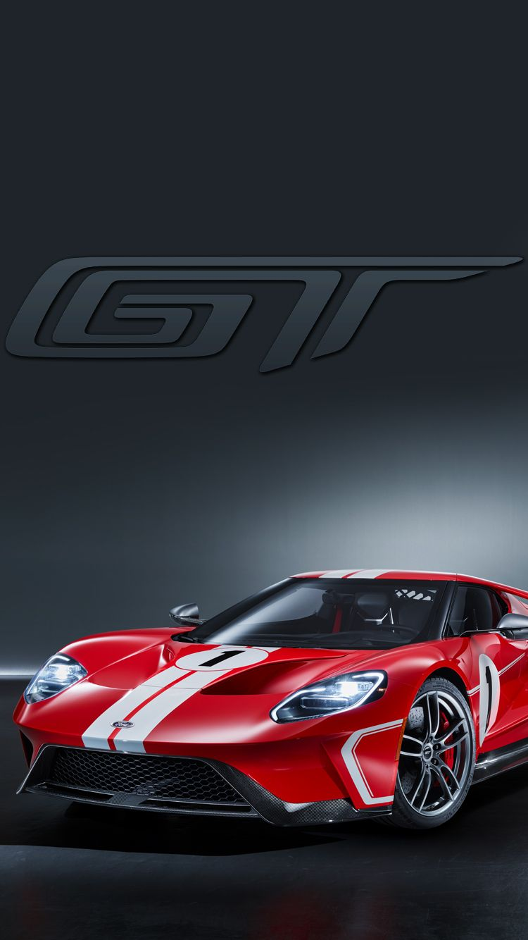 Universal Phone Wallpapers Backgrounds Red Ford Gt Super Car Iphone Htc Samsung