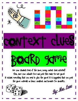 Context Clues Board Game (Great Center or Workstation