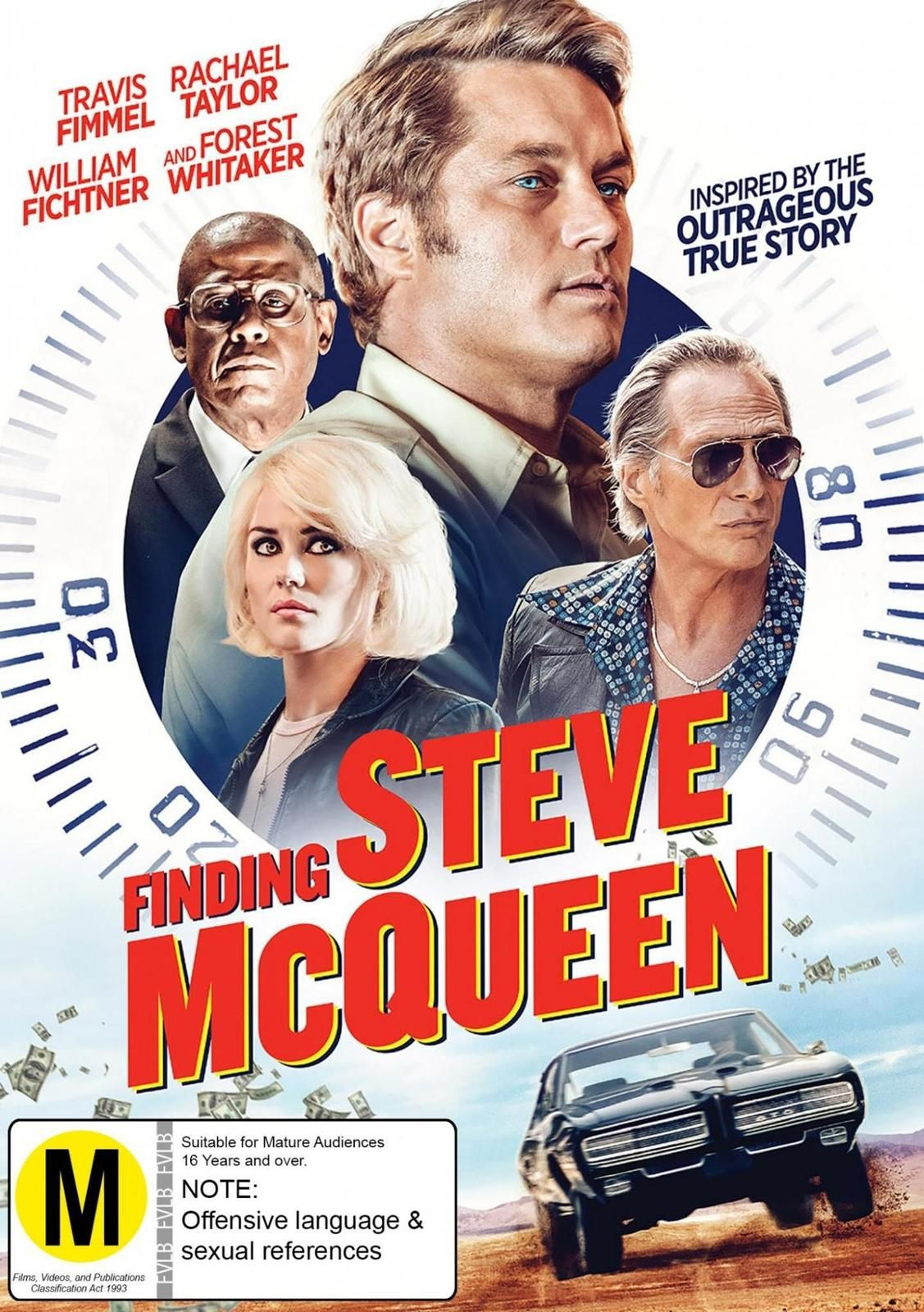 Inspired by an outrageous true story, Finding Steve McQueen is a taleof small-time criminals, a big-time heist and is a fun caper with a winning castthat includes Travis Fimmel, Rachael Taylor and Forest WhittakerWhen an unlikely gang of thieves attempt to steal $30 million from PresidentRichard Nixon's secret stash of illegal campaign contributions, the plan goessideways, prompting one of the biggest manhunts in FBI history. A tale ofsmall-time criminals and a big-time heist, this fun caper has